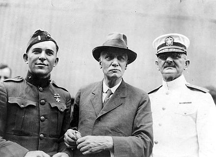 Thomas S. Butler, center, with U.S. Navy Admiral Henry T. Mayo and an unidentified Marine Lieutenant returning from France aboard USS Siboney in August 1919. Henry T. Mayo and Thomas S. Butler.jpg