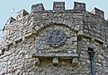 Heraldic arms on the tower, Dunraven Park walled garden. - geograph.org.uk - 1215488.jpg