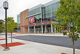 St. Cloud State University - Herb Brooks National Hockey Center at One Herb Brooks Plaza.