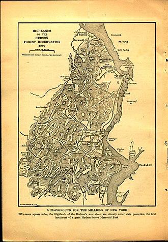 Hudson Highlands - Highlands of the Hudson Forest Reservation 1909