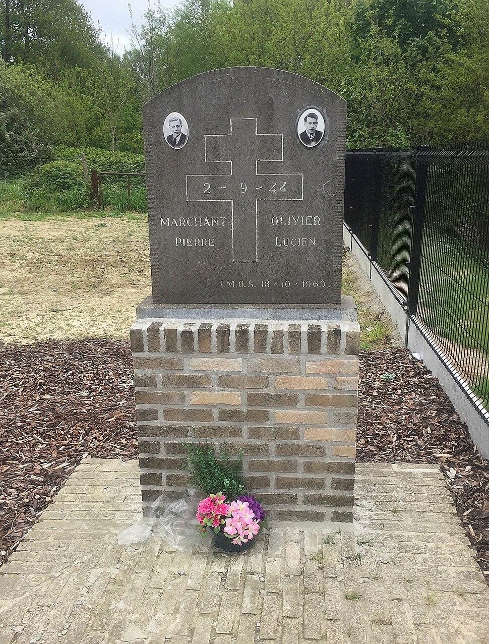 Hill 60 Ypres Belgium Marchant Olivier 1944 Memorial