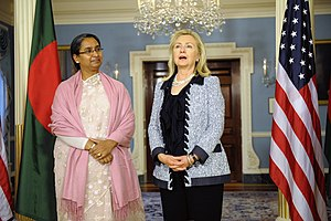 Dipu Moni - Dipu Moni with Hillary Clinton