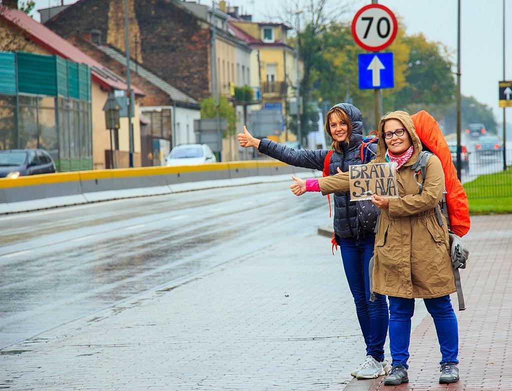 Hitchhiking in Kraków
