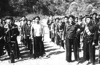 Laotian Civil War - Anti-communist Hmong guerrilla troops in 1961.