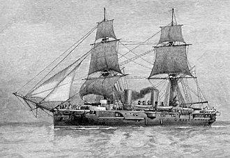 HMS Warspite (1884) - Image: Hms warspite 1884