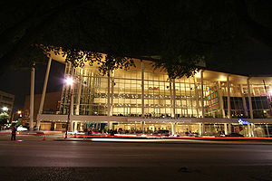 Hobby Center for the Performing Arts - Hobby Center at night