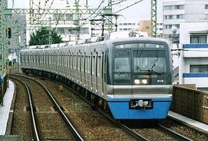 Chiba New Town Railway 9100 series - Set 9111 on the Keikyu Main Line in July 1995