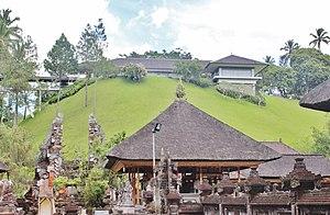 Tampaksiring Palace - Istana Tampaksiring, on a hill overlooking Pura Tirta Empul