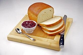 White bread - Homemade White Bread with Strawberry Jam