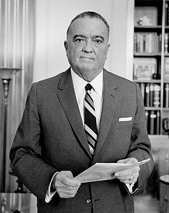 J. Edgar Hoover, FBI Director from 1924 to 1972 Hoover-JEdgar-LOC.jpg