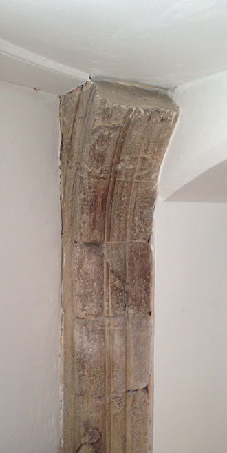 Hospital of St John the Baptist, Arbroath - Fragment of what may be the medieval doorway located within Hospitalfield House
