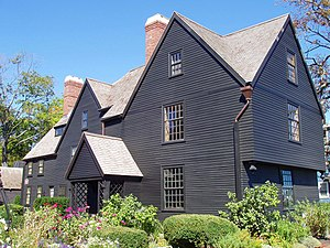House of the Seven Gables - The House of the Seven Gables, Salem, Massachusetts. View of front and side.