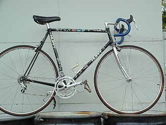 Huffy - Huffy racing bicycle, frame built by Dennis Bushnell