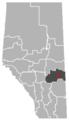 Hughenden, Alberta Location.png