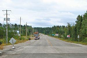 Kenora District - Highway 599, longest secondary highway in Ontario