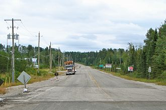 Kenora District - Highway 599, longest secondary highway in Ontario