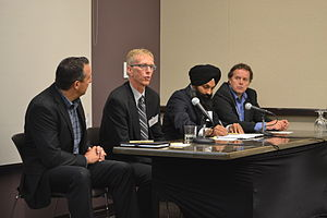 SciNet Consortium - SciNet CTO, Chris Loken (rightmost), at a data center discussion panel.