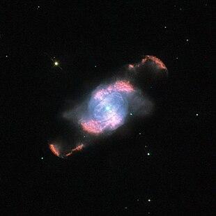 Aufnahme des Hubble-Weltraumteleskops mit Linienfilter.