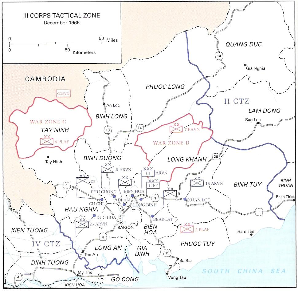 III Corps Tactical Zone December 1966