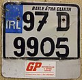 IRELAND, DUBLIN 1997 -MOTORCYCLE PLATE with DEALER TAG - Flickr - woody1778a.jpg