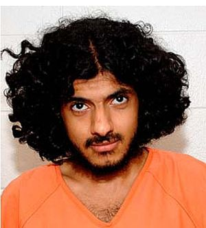 Hassan bin Attash - Hassan bin Attash, wearing an orange uniform issued to non-compliant individuals