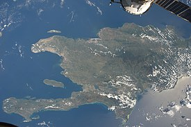 ISS-20 Caribbean island of Hispaniola from the ISS.jpg