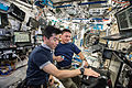 ISS-44 Kimiya Yui and Kjell Lindgren in the Destiny module.jpg