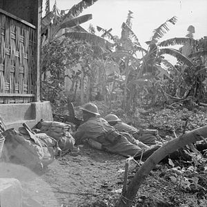 Battle of Surabaya - Bren gunners of 3/9th Jat Regiment cover the advance of their regiment against Indonesian nationalists, circa 15–16 November 1945.