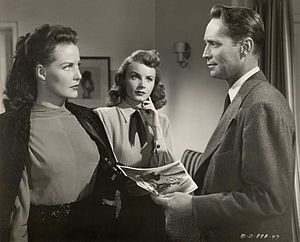 I Love Trouble (1948 film) - Janis Carter, Janet Blair and Franchot Tone