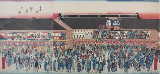 Ichimura-za Major kabuki theatre in Edo, Japan