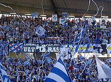 Ifk Goteborg Supporters At The Home Derby Against Orgryte Is In