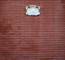 detalle de la fachada de la iglesia del salvador en sevilla con ladrillos avitolados