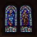 Immaculate Conception Church (Columbus, Ohio) - stained glass, Sts. Mark & Matthew.jpg