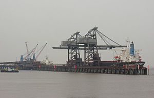 Scunthorpe Steelworks - Immingham Bulk Terminal at the Port of Immingham est.1970 (2007)