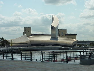Salford Quays - The Imperial War Museum North, opened 2001 and designed by Daniel Libeskind.