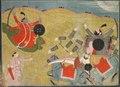India, Pahari, possibly Garhwal, 19th century - Krishna Vanquishing Vanasura- Scene from the Aniruddha Usha Section of Kris - 1934.219 - Cleveland Museum of Art.tif