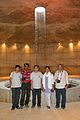 Indo-Bangladeshi Wikimedians - Central Rotunda with Light-infused Water Pillar - Museum of Independence - Suhrawardy Udyan - Dhaka 2015-05-31 2186.JPG