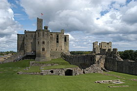 Interior and keep of Warkworth Castle.jpg