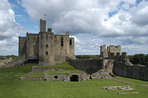 Interior and keep of Warkworth Castle