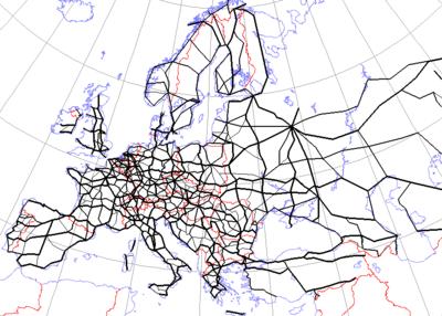 putevi evrope mapa Evropska mreža međunarodnih puteva — Википедија, слободна  putevi evrope mapa