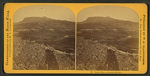 Inyan Kara Mountain - Image: Inyan Kara, altitude 6,000 feet, by Illingworth, W. H. (William H.), 1842 1893