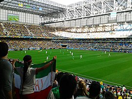 Iran and Nigeria match at the FIFA World Cup 2014-06-12 - Copa 2014 - FIFA World Cup 2014 - Curitiba (14438623472).jpg