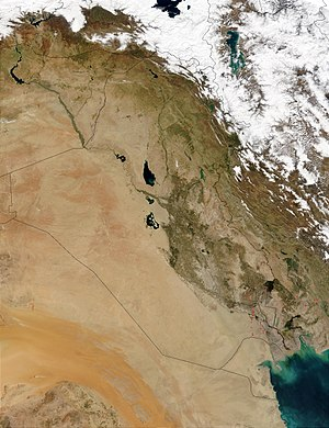 Geography of Iraq - Snow-capped mountains in northern Iraq.