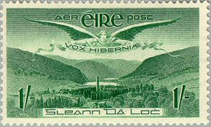 Airmail stamp - 1949 Irish 1 shilling airmail stamp