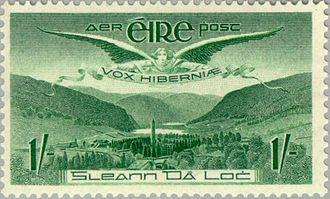 Airmail stamp - 1949 Irish 1 shilling airmail stamp