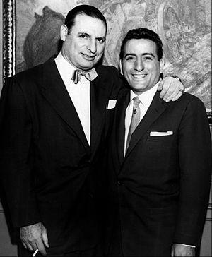 Tony Bennett - Bennett (right) with Chicago columnist and talk show host Irv Kupcinet, during the 1950s