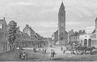 Irvine, North Ayrshire - Irvine 'Old Town' High Street, early 19th century