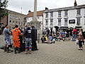 Isle of Wight Festival 2012 goers in Newport St Thomas Square.JPG