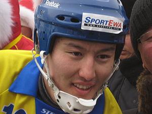 Sport in Kazakhstan - Rauan Isaliyev, captain of Kazakhstan's national bandy team