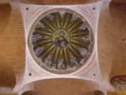View of the central dome of the parekklesion with Christ Pantocrator surrounded by the prophets of the Old Testament
